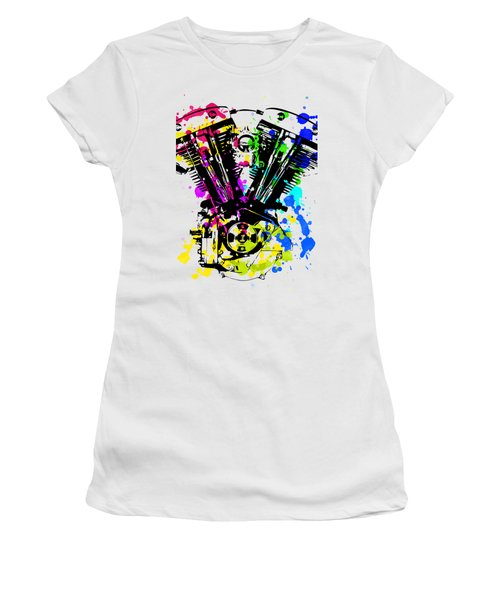 Harley Davidson Pop Art 4 Women's T-Shirt (Athletic Fit)