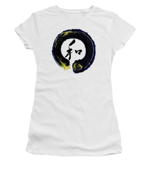 Harmony - Peace With Enso Women's T-Shirt (Junior Cut) by Peter v Quenter