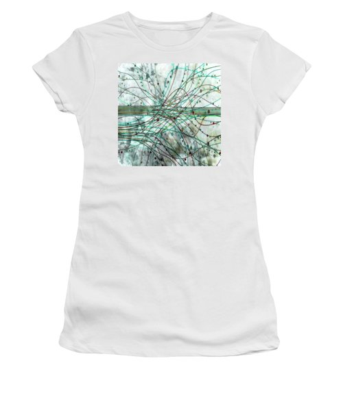 Women's T-Shirt (Junior Cut) featuring the digital art Harnessing Energy 3 by Angelina Vick