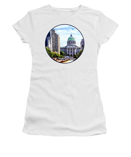 Harrisburg Pa - Capitol Building Seen From State Street Women's T-Shirt