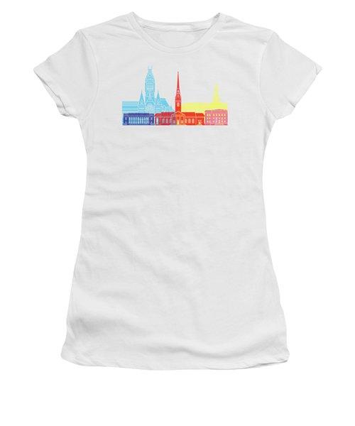 Harvard Ma Skyline Pop Women's T-Shirt (Athletic Fit)