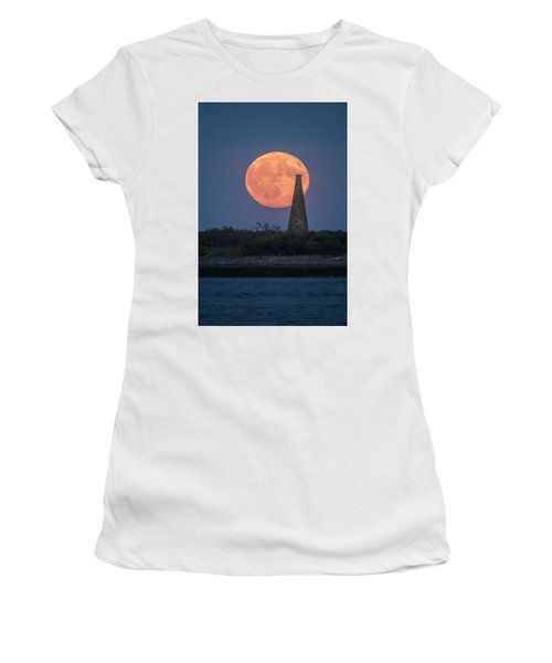 Harvest Moon Over Stage Island, Maine Women's T-Shirt