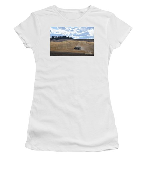 Hauling The Harvest From The Fields. Women's T-Shirt (Athletic Fit)