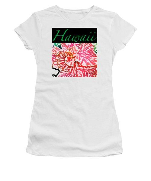 Hawaii Blush T-shirt Women's T-Shirt (Junior Cut) by James Temple