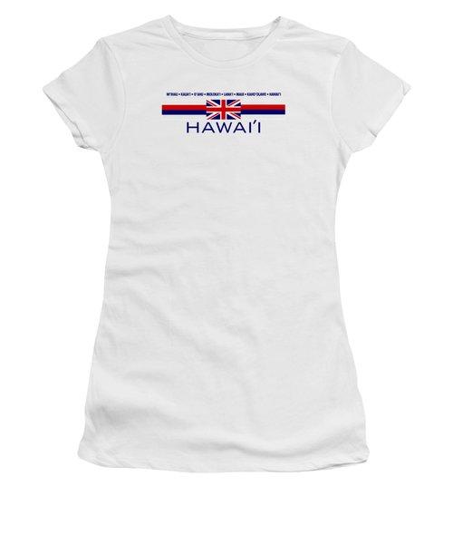 Hawai'i Women's T-Shirt (Junior Cut) by Jim Pavelle