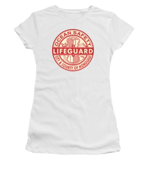 Hawaii Lifeguard Logo Women's T-Shirt (Athletic Fit)
