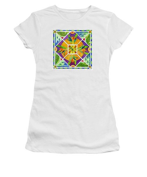 Hawaiian Mandala II - Bird Of Paradise Women's T-Shirt