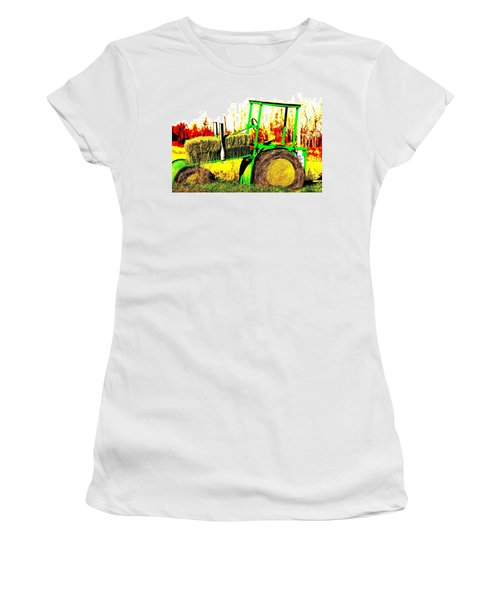 Hay It's A Tractor Women's T-Shirt (Athletic Fit)