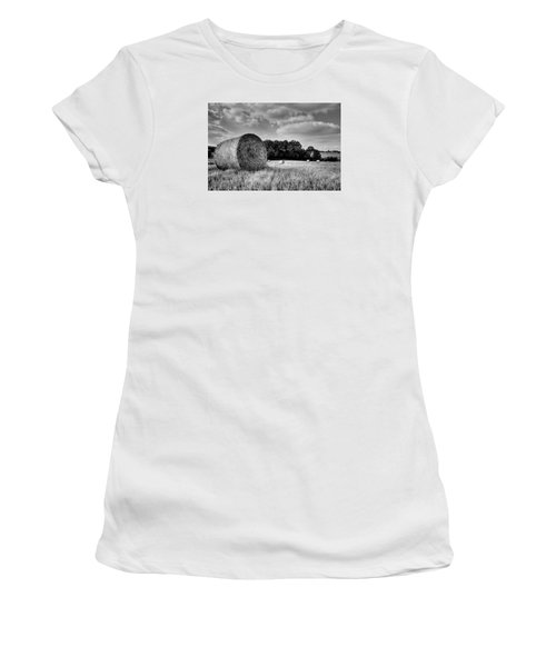 Hay Race Track Women's T-Shirt (Junior Cut) by Jeremy Lavender Photography