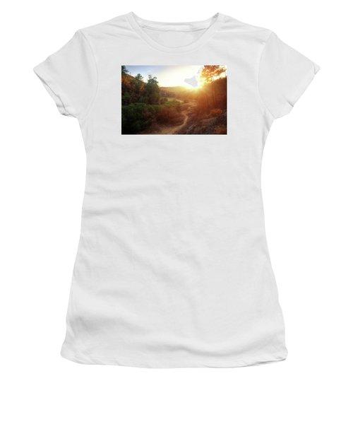 Hdr Landscape Women's T-Shirt (Athletic Fit)