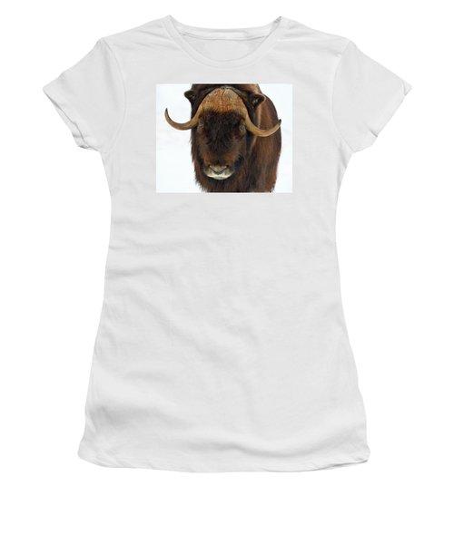 Women's T-Shirt (Junior Cut) featuring the photograph Head Butt by Tony Beck