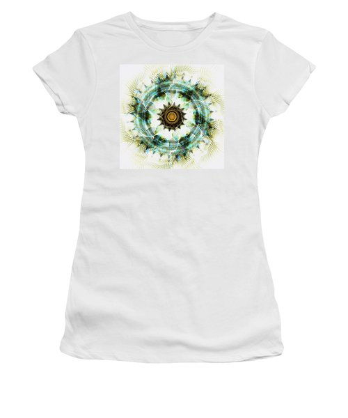 Women's T-Shirt (Athletic Fit) featuring the digital art Healing Energy by Anastasiya Malakhova