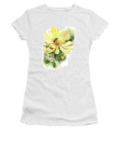 Women's T-Shirt (Junior Cut) featuring the painting Healing Your Heart by Anna Ewa Miarczynska