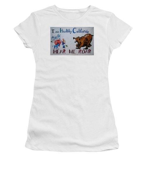 Hear Me Roar Women's T-Shirt (Athletic Fit)