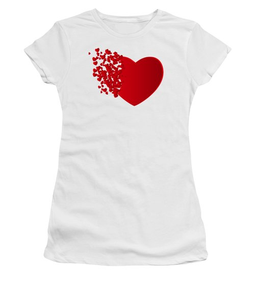 Hears Of Hearts Women's T-Shirt (Athletic Fit)