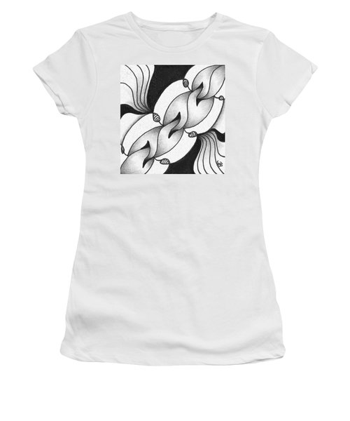 Women's T-Shirt (Athletic Fit) featuring the drawing Heart Connections by Jan Steinle