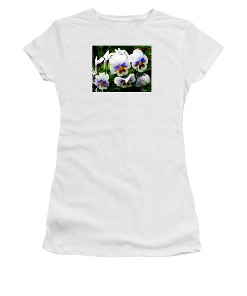 Heart Ease In White Women's T-Shirt (Athletic Fit)