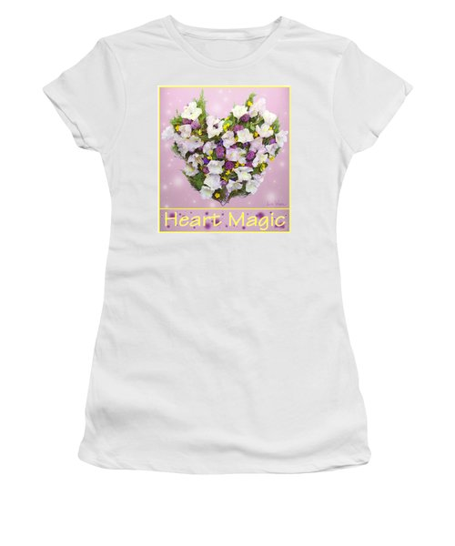 Women's T-Shirt (Junior Cut) featuring the digital art Heart Magic by Lise Winne