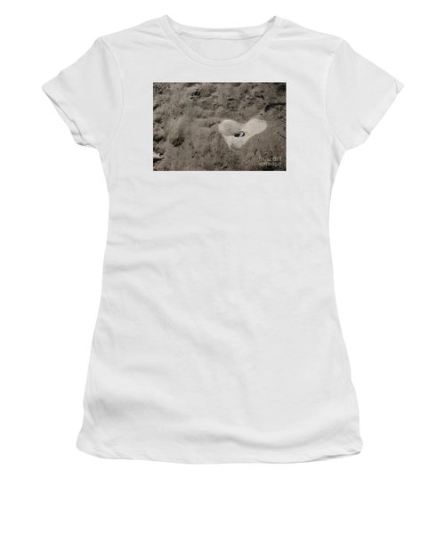 Women's T-Shirt (Athletic Fit) featuring the photograph Heart Of Non Stone by Marie Neder