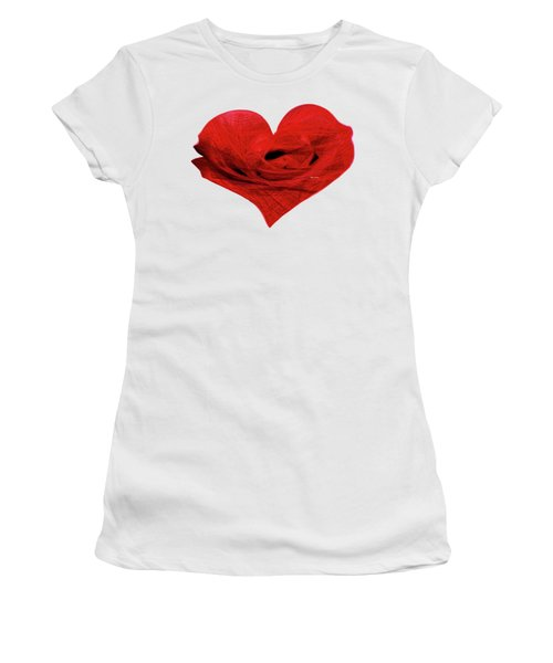 Heart Sketch Women's T-Shirt (Athletic Fit)