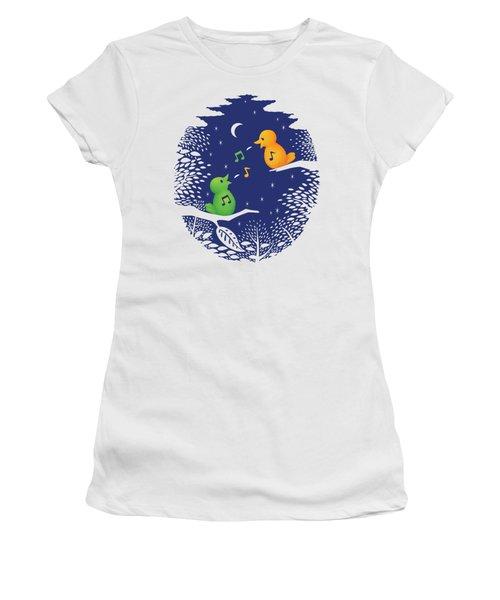 Women's T-Shirt (Junior Cut) featuring the digital art Heart Song by Ben Hartnett