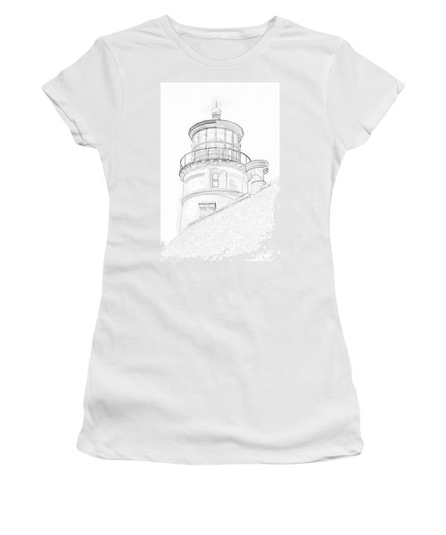Hecitia Head Lighthouse Sketch Women's T-Shirt (Athletic Fit)