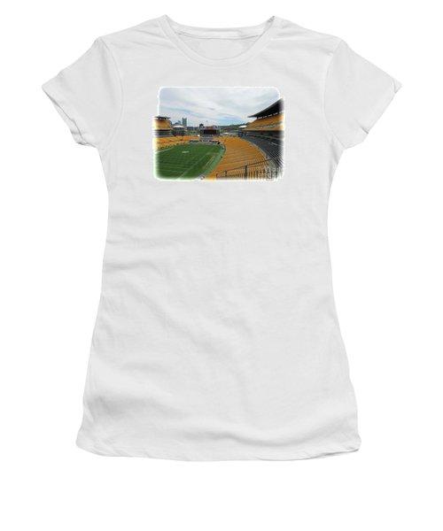 Heinz Stadium With Pittsburgh Skyline Women's T-Shirt