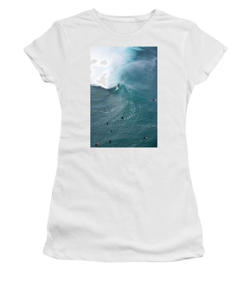 Tubed From Above. Women's T-Shirt (Athletic Fit)