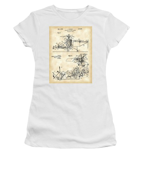 Helicopter Patent 1940 - Vintage Women's T-Shirt (Athletic Fit)