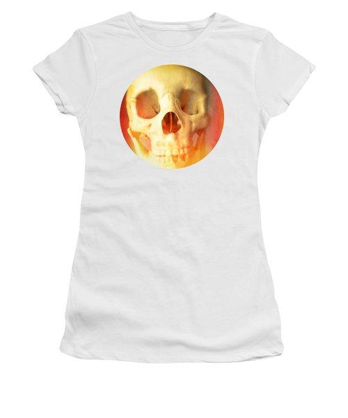 Hell Fire Skull Round Beach Towel Blanket Women's T-Shirt