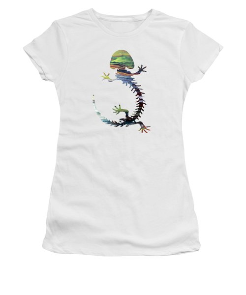 Hellbender Skeleton Women's T-Shirt (Junior Cut)