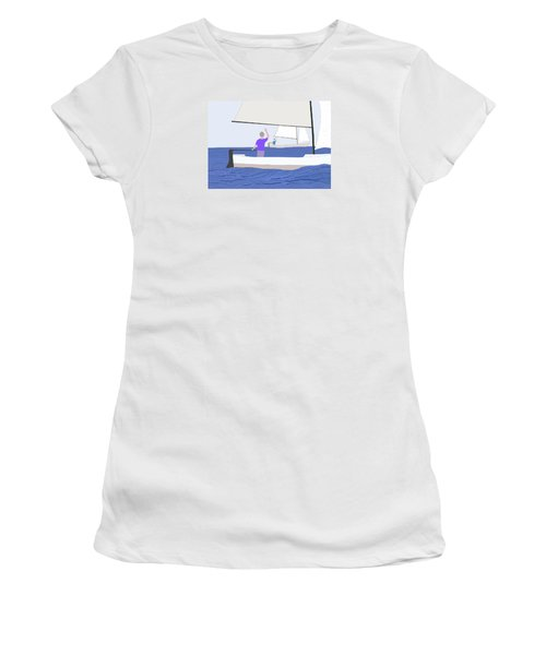 Hello Old Friend Women's T-Shirt (Junior Cut) by Fred Jinkins