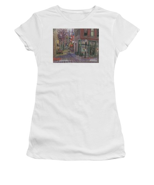 Women's T-Shirt (Junior Cut) featuring the painting Henry's by Donald Maier