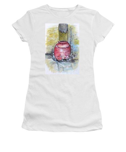 Herculaneum Amphora Pot Women's T-Shirt (Junior Cut) by Clyde J Kell