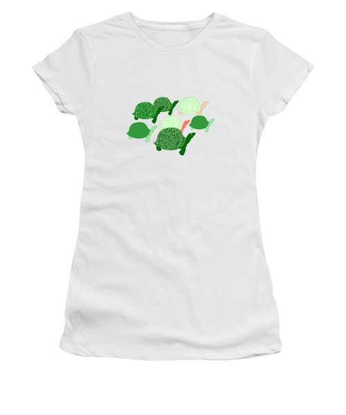 Herd Of Turtles Pattern Women's T-Shirt (Junior Cut) by Methune Hively
