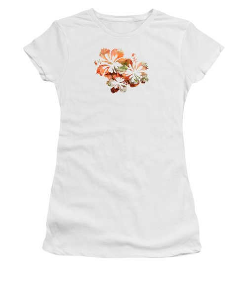 Hibiscus Flowers Women's T-Shirt (Junior Cut) by Art Spectrum