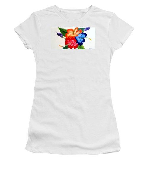 Hibiscus Women's T-Shirt (Junior Cut) by Jamie Frier