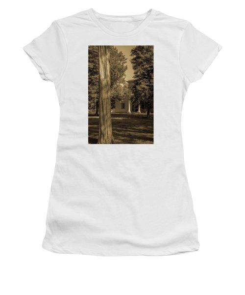 Women's T-Shirt (Athletic Fit) featuring the photograph Hidden Columns  by James L Bartlett