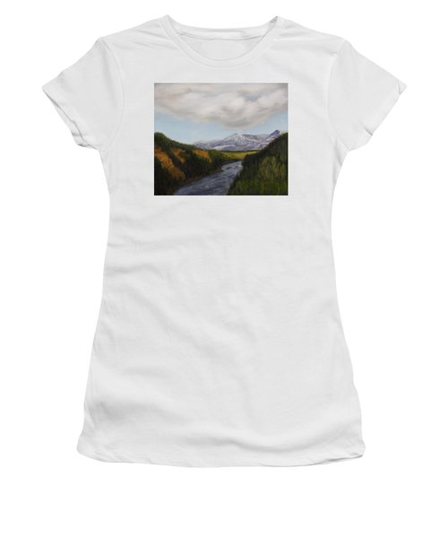 Hidden Mountains Women's T-Shirt (Athletic Fit)