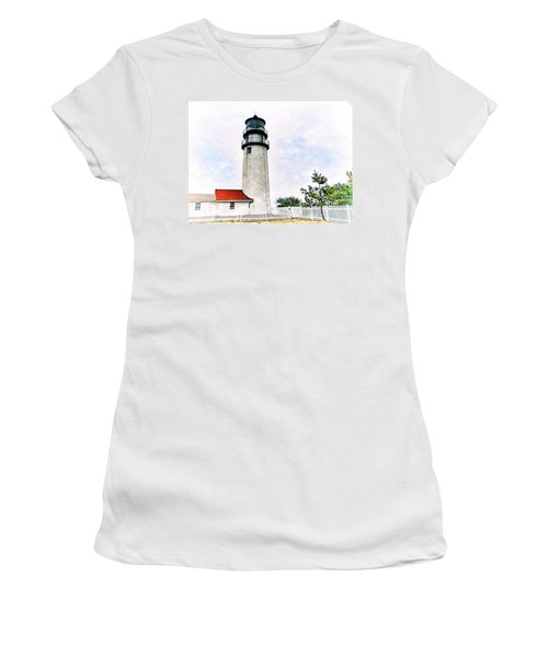 Highland Lighthouse Cape Cod Women's T-Shirt (Junior Cut) by Marianne Campolongo