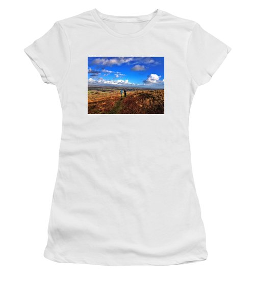 Hiking With College  #college #hike Women's T-Shirt