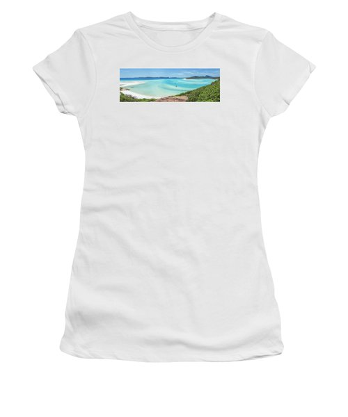 Hill Inlet Lookout Women's T-Shirt (Junior Cut) by Az Jackson