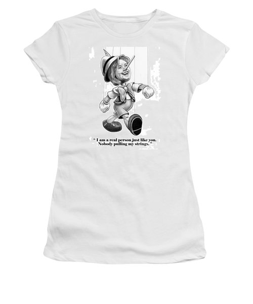 Hillary Puppet Women's T-Shirt (Junior Cut) by Murphy Elliott