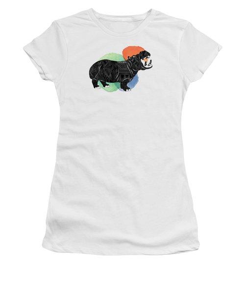 Hippo Women's T-Shirt (Junior Cut) by Serkes Panda