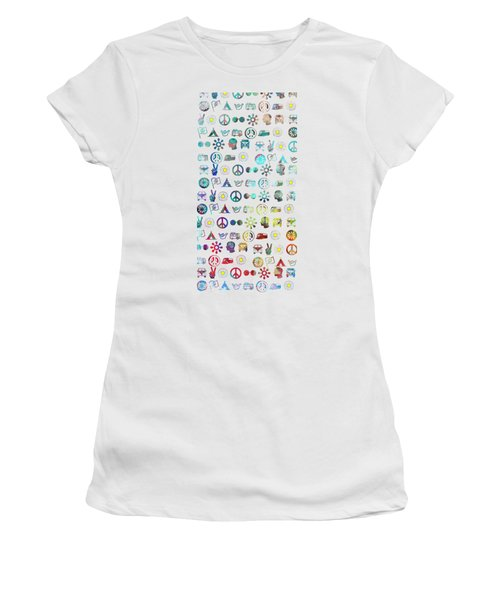 Women's T-Shirt (Junior Cut) featuring the photograph Hippy Chick Phone Case by Edward Fielding