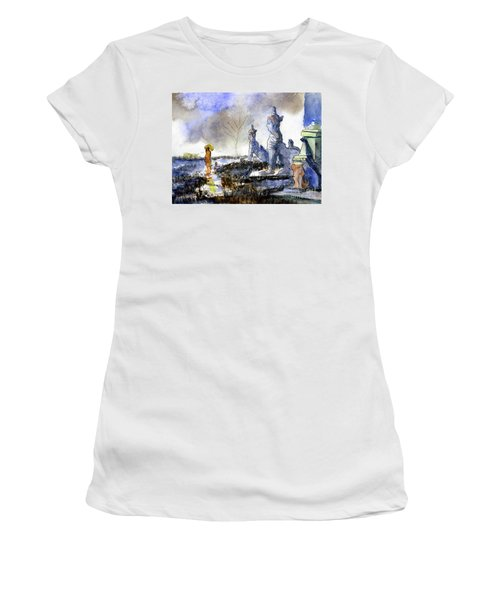 His And Hers Temples Women's T-Shirt (Junior Cut) by Randy Sprout
