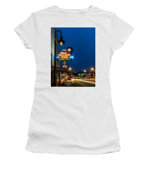 Historic Almond Roca Co. During Blue Hour Women's T-Shirt