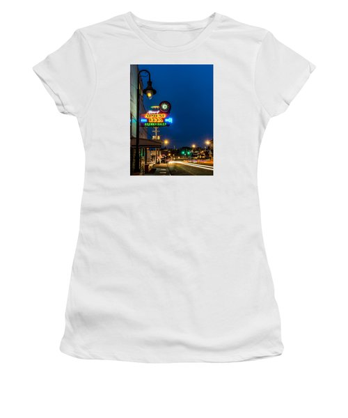 Historic Almond Roca Co. During Blue Hour Women's T-Shirt (Athletic Fit)