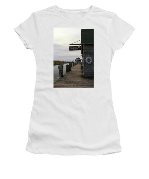 Women's T-Shirt featuring the photograph Historic Fishtown 5 by Heather Kenward