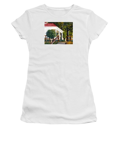 Women's T-Shirt (Junior Cut) featuring the painting History Still Stands by Jim Phillips